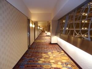 ニューヨークマリオットマーキース(アメリカ合衆国ニューヨーク)の部屋への通路