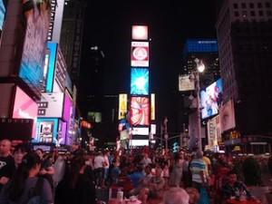 ニューヨークマリオットマーキース(アメリカ合衆国ニューヨーク)の目の前のタイムズスクエア