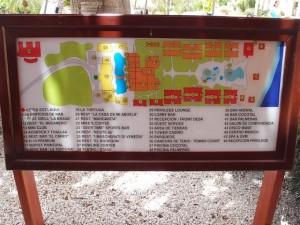オーシャンブルー&サンド(ドミニカ共和国プンタカーナ)の案内板