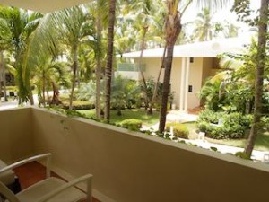 パラディサス・プンタカーナ・リゾート(ドミニカ共和国プンタカーナ)の部屋のベランダからみた景色