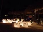 パラディサス・プンタカーナ・リゾート(ドミニカ共和国プンタカーナ)のビーチレストラン夜景