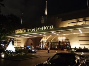 ザ・フラトンベイホテル(シンガポール)の玄関部分