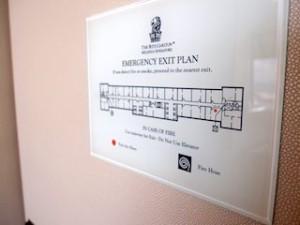 ザ・リッツ・カールトンミレニアシンガポール(シンガポール)部屋の避難経路