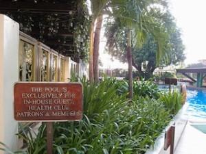 マニラホテル(フィリピン・マニラ)の屋外プール入口