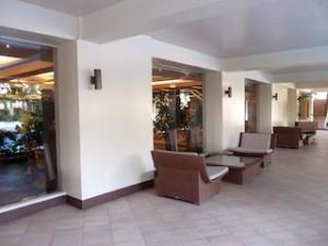 マニラホテル(フィリピン・マニラ)のジム前