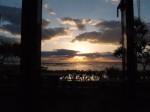 ザ・ビーチタワー沖縄のスパ「ちゅらーゆ」からみたサンセット