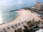 ザ・ビーチタワー沖縄の部屋からみたサンセットビーチ