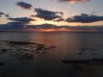 ザ・ビーチタワー沖縄の部屋から見たサンセット、夕陽