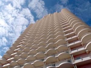 ホテル、ザ・ビーチタワー沖縄の外観