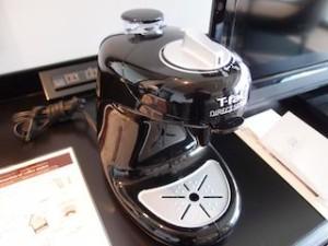 ホテルモントレ沖縄スパ&リゾートのオーシャンバスルームのコーヒーマシン