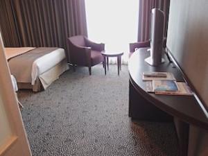 ホテルニューオータニの部屋のテレビ側全体