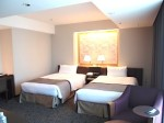 ホテルニューオータニの部屋のツインベッド