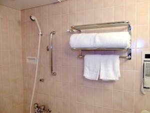 ホテルニューオータニの部屋のバスルーム内