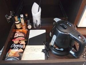 ホテルニューオータニの部屋のミニバー