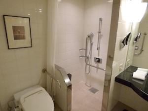 ハイアットリージェンシー大阪、バスルーム内シャワーブース
