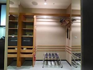 ハイアットリージェンシー大阪の部屋のクローゼット