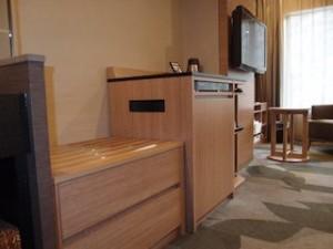 湯本富士屋ホテルの部屋の荷物置き場