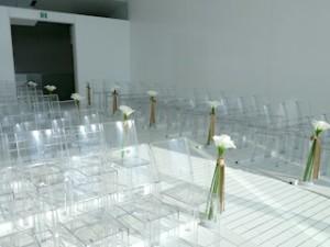 ホテルセトレ神戸・舞子のチャペルの透明の椅子席