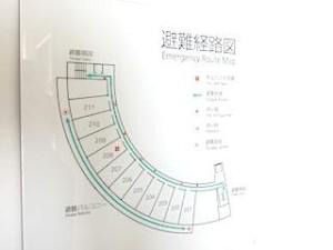 ホテルセトレ神戸・舞子の部屋の避難経路図
