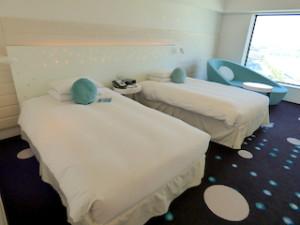 ヒルトン東京ベイ(千葉県浦安市)のセレブリオの部屋のベッド