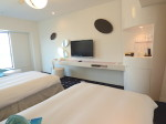 ヒルトン東京ベイ(千葉県浦安市)のセレブリオの部屋ベッド対面