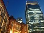 東京駅丸の内南側の夕暮れ