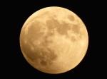 皆既月食前の満月