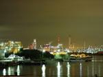 千鳥運河の夜景、川崎市川崎区千鳥町