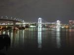 東京レインボーブリッジ有明側の夜景近景