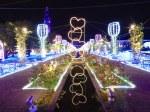 ハウステンボスのイルミネーション「光の王国」光のアートガーデンのハートの道