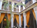 モロッコマラケシュにあるホテル、リヤドの内部(Inside of Riad, Marrakesh Morocco)