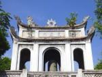 ベトナムハノイの「文廟」最初の門(Van Mieu gate at Hanoi Vietnam, Vietnam)