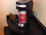 ニューヨークマリオットマーキース(アメリカ合衆国ニューヨーク)の部屋のコーヒーマシン