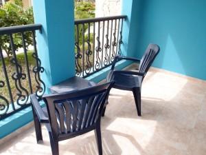 オーシャンブルー&サンド(ドミニカ共和国プンタカーナ)の部屋のベランダ