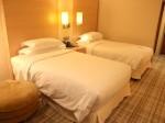 ヒルトンシンガポール(シンガポール)の部屋のベッド