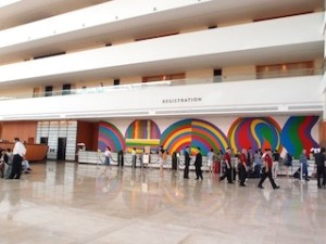 マリーナベイサンズホテル(シンガポール)のフロント