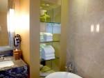 マリーナベイサンズホテル(シンガポール)の部屋のバスルームタオル類