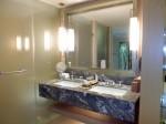 マリーナベイサンズホテル(シンガポール)の部屋の洗面台