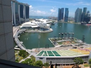 ザ・リッツ・カールトンミレニアシンガポール(シンガポール)部屋から見た景色左手