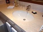 シャングリ・ラホテルチェンマイ(タイ、チェンマイ)の部屋のバスルーム洗面台