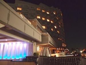 ホテル日航東京(東京都港区)のホテル外観夜景
