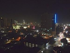 ハロルズホテル(フィリピン・セブ島)の最上階からみた夜景