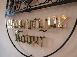 マニラホテル(フィリピン・マニラ)のシャンパンルームロゴ