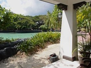 プランテーションベイリゾート&スパ(フィリピン・マクタン島)の部屋のベランダ