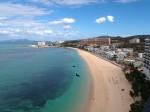 ホテルモントレ沖縄スパ&リゾートの部屋からのタイガービーチ