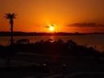 沖縄県国頭郡恩納村にあるタイガービーチの夕陽