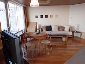 ザ・ビーチタワー沖縄の部屋、リビングスペース