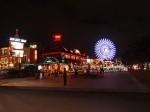 沖縄県北谷町の夜景、ザ・ビーチタワー沖縄近く