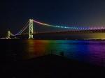 明石海峡大橋のレインボー夜景