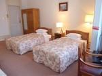 富士屋ホテルの西洋館の92号室のツインベッド